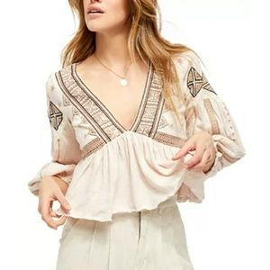 Free People | Aria Embroidered Top